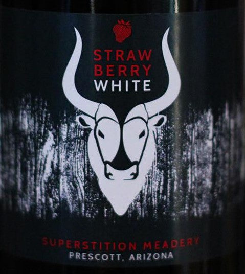 Superstition Meadery Straw Berry White 500ml Cork Finished