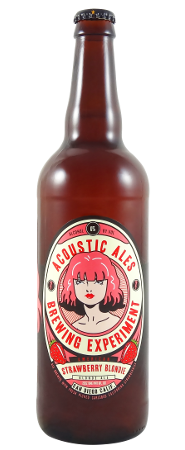 Acoustic Ales Brewing Experiment Strawberry Blondie 22oz
