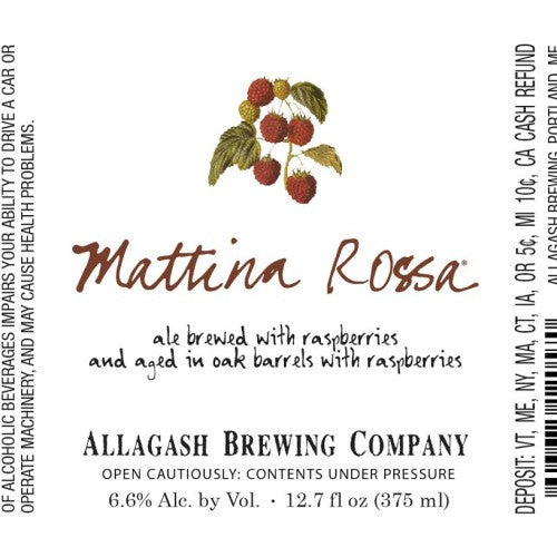 Allagash Mattina Rossa 375ml LIMIT 1