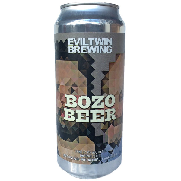 Evil Twin Bozo Beer, Imperial Stout brewed w/ coffee and w/ natural flavors added 16oz CAN