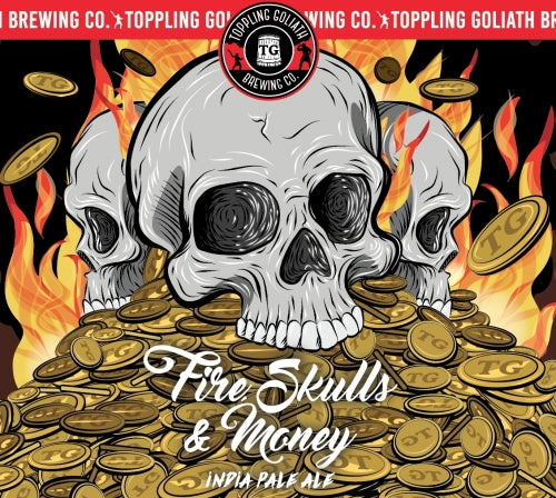 Toppling Goliath Fire, Skulls & Money 16oz cans LIMIT 4 CANS