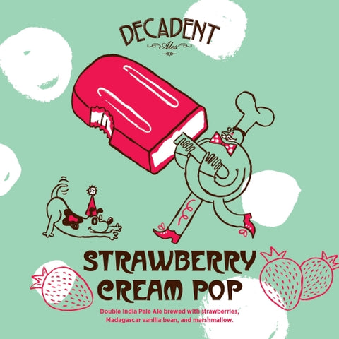 Decadent Strawberry Cream Pop 16oz CAN LIMIT 1