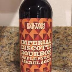 Evil Twin Brewing Bourbon Maple Syrup Imp. Biscotti Break barrel aged 22oz LIMIT 1