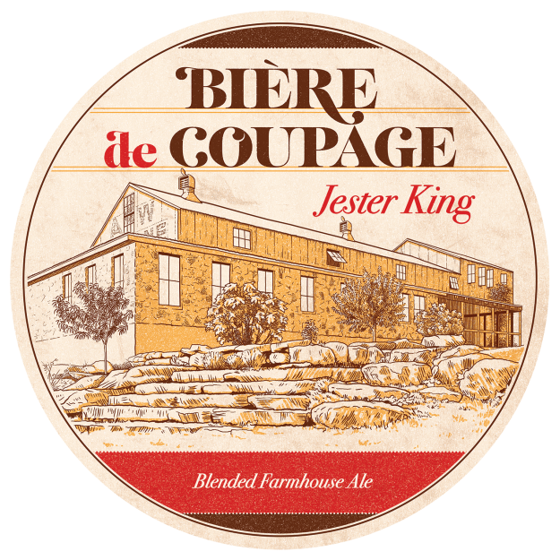 Jester King Biere de Coupage Sour/Wild Ale beer by Jester King Brewery, a brewery in Austin, Texas