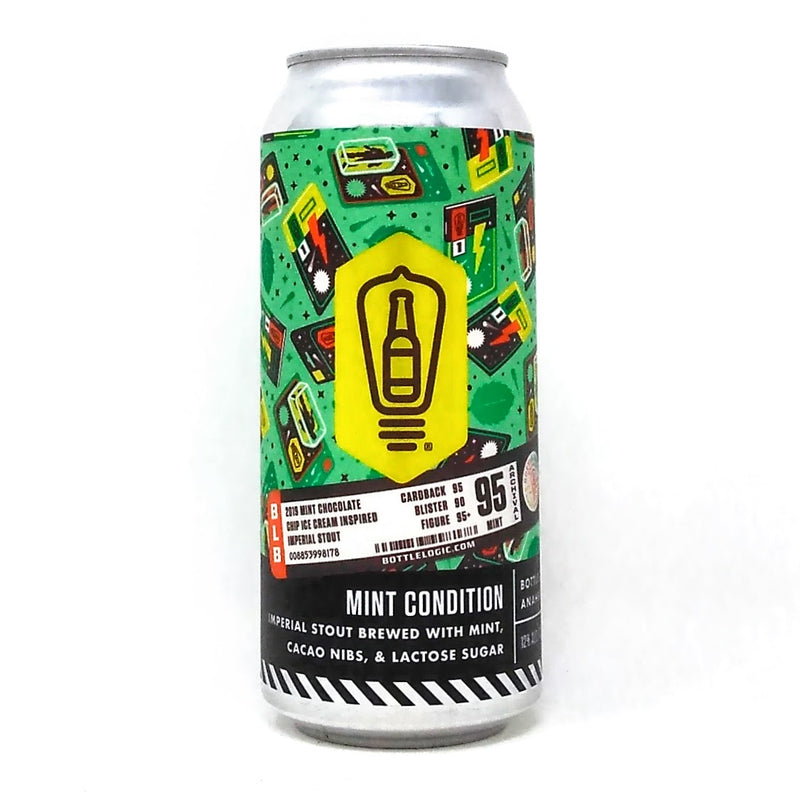 BOTTLE LOGIC BREWING MINT CONDITION CHOCOLATE CHIP MINT ICE CREAM IMPERIAL STOUT 16oz can