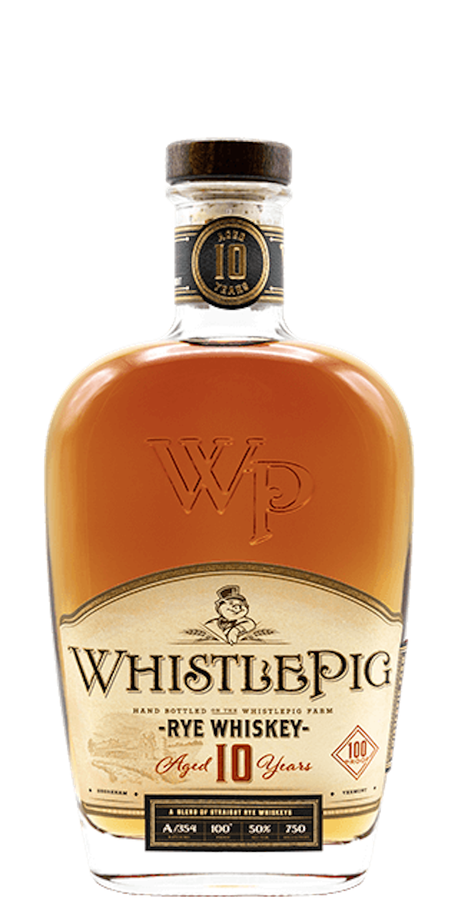 WHISTLE PIG 10 YR STRAIGHT RYE WHISKEY