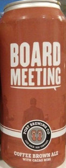 PORT BREWING CO. BOARD MEETING COFFEE BROWN ALE 16oz can