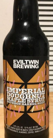EVIL TWIN BREWING DOUGHNUT MAPLE SYRUP BOURBON BARREL AGED IMPERIAL PORTER 16.6oz (LIMIT 1 PER PURCHASE)