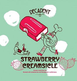 Decadent Ales Strawberry Creamsicle, Double IPA 16oz CAN LIMIT 1