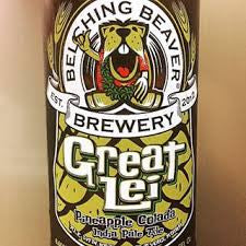 Belching Beaver Hot Great Lei Pina Colada IPA 22oz