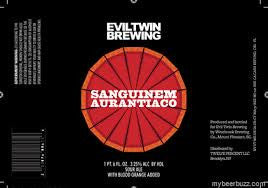 Evil Twin/ Westbrook Sanguinem Aurantico Blood Orange Sour 22oz