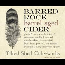 Tilted Shed Barred Rock rye whskey 750ml