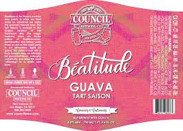 Council Brewing Company Beatitude Tart Saison Guava 750ML