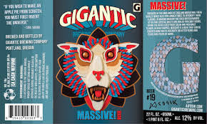 Gigantic Brewing Massive! Barleywine 222oz