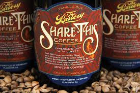 The Bruery Share This Coffee 750ml LIMIT 1