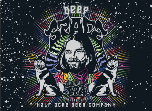 Half Acre Deep Space Double IPA 16oz cans