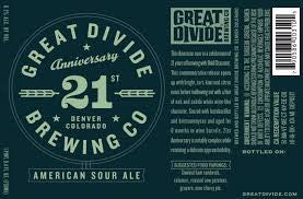 Great Divide 21st anniversary 750ml American sour