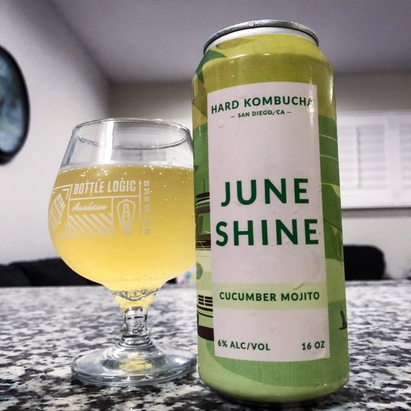 JUNESHINE HARD KOMBUCHA CUCUMBER MOJITO 16OZ CAN
