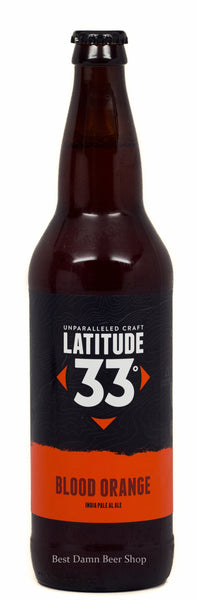 Latitude 33 Brewing Blood Orange IPA 22oz