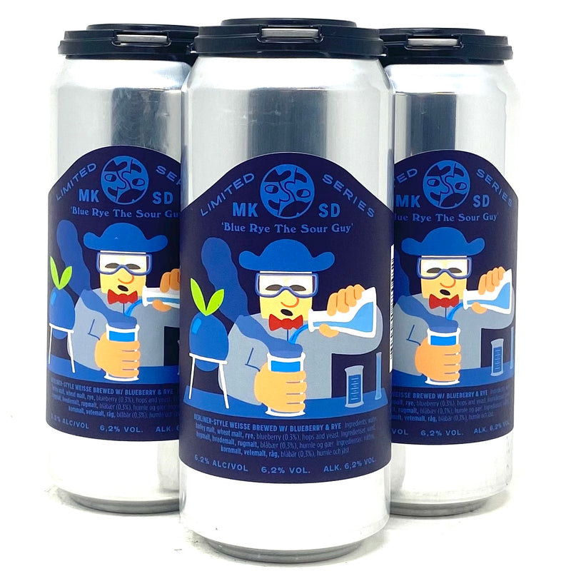 MIKKELLER 'BLUE RYE THE SOUR GUY' BERLINER-STYLE WEISSE BREWED w/ BLUEBERRY & RYE 16oz can
