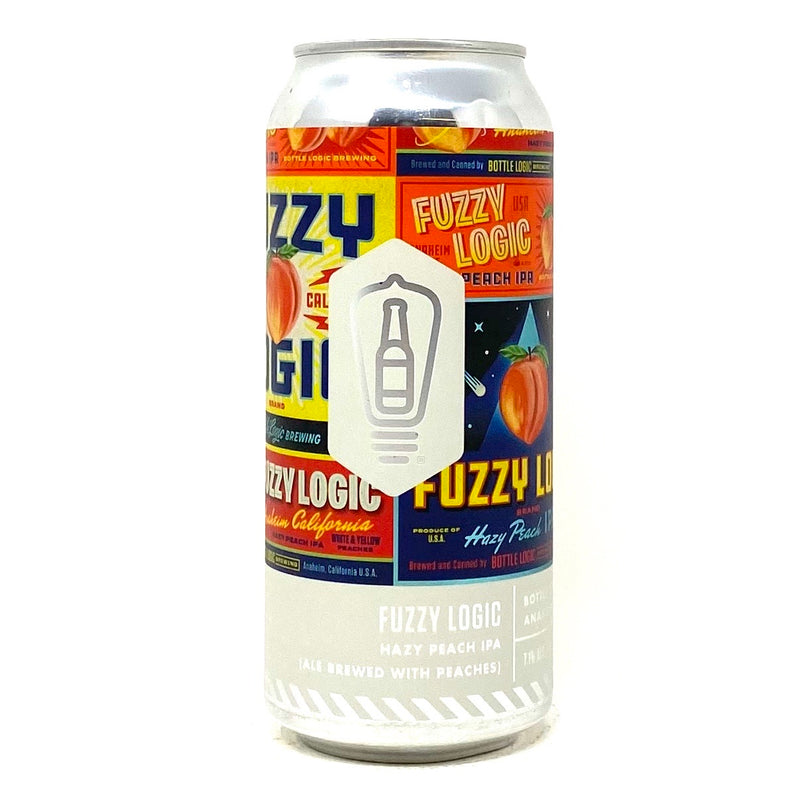 BOTTLE LOGIC BREWING FUZZY LOGIC HAZY PEACH IPA 16oz can