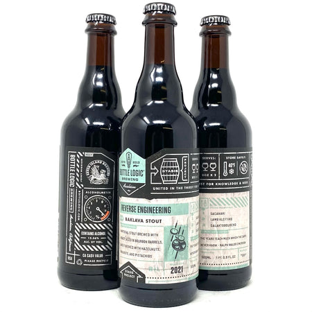 BOTTLE LOGIC 2021 REVERSE ENGINEERING BAKLAVA IMPERIAL STOUT 500ml Bottle *LIMIT 3 PER ORDER*