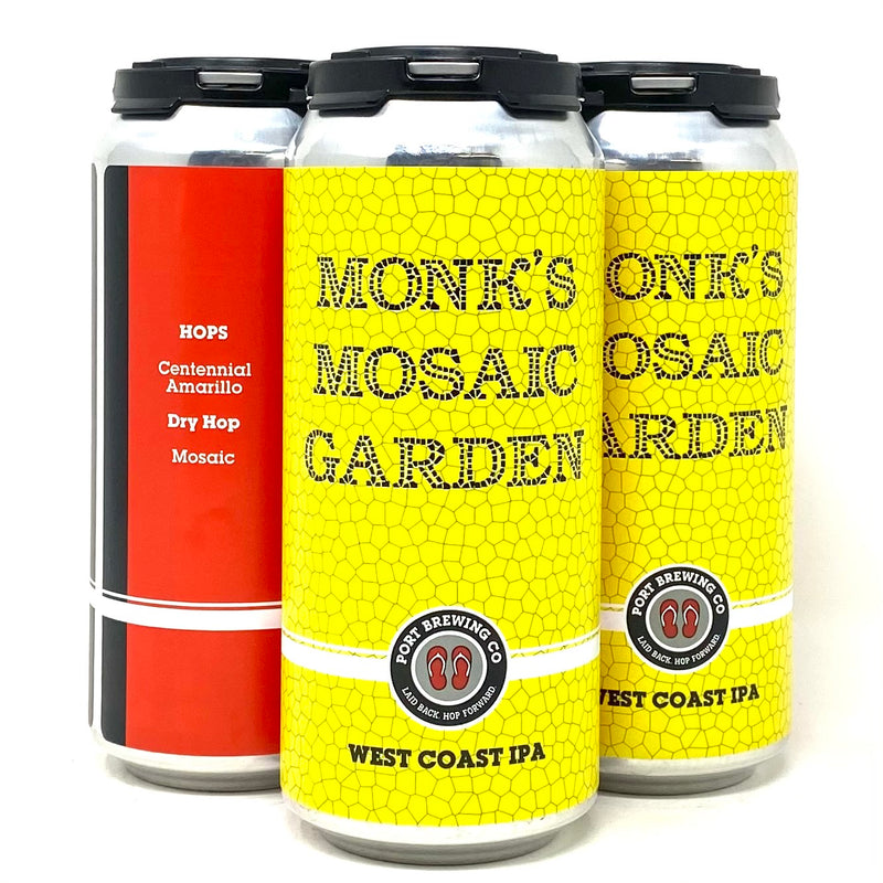 PORT BREWING MONK'S MOSAIC GARDEN WEST COAST IPA 16oz can