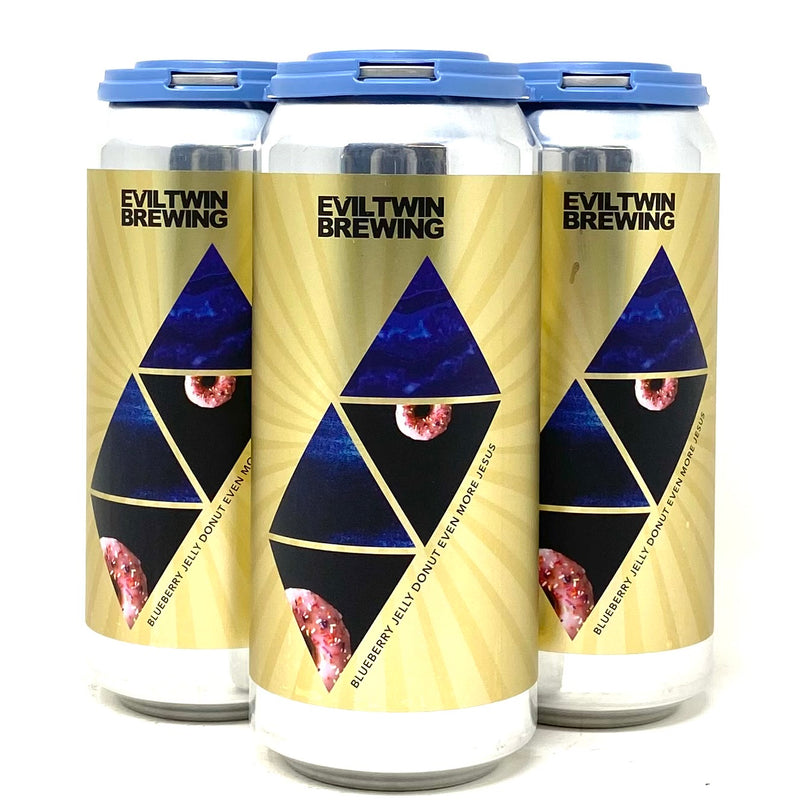 EVIL TWIN BLUEBERRY JELLY DONUT EVEN MORE JESUS IMPERIAL STOUT 16oz can
