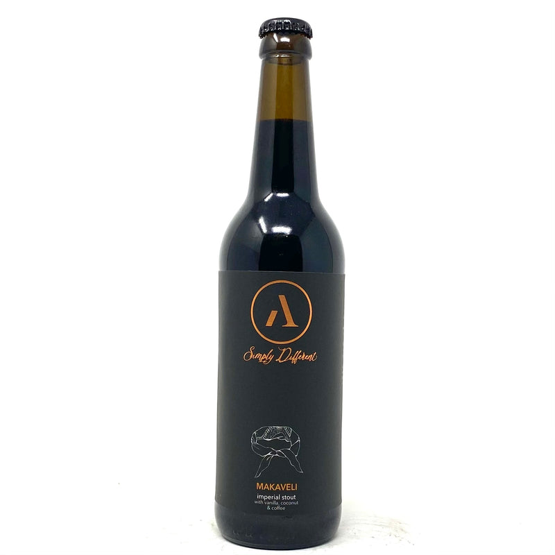 ABNORMAL MAKAVELI IMPERIAL STOUT w/ VANILLA, COCONUT & COFFEE 500ml Bottle