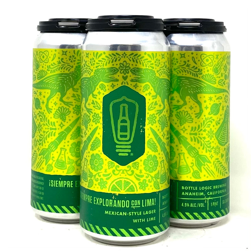 BOTTLE LOGIC SIEMPRE EXPLORANDO CON LIME! MEXICAN STYLE LAGER w/ LIME 16oz can