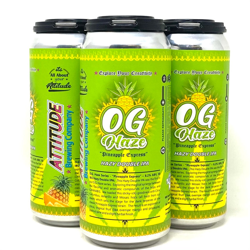 ATTITUDE BREWING O.G. HAZE PINEAPPLE EXPRESS HAZY DIPA 16oz can