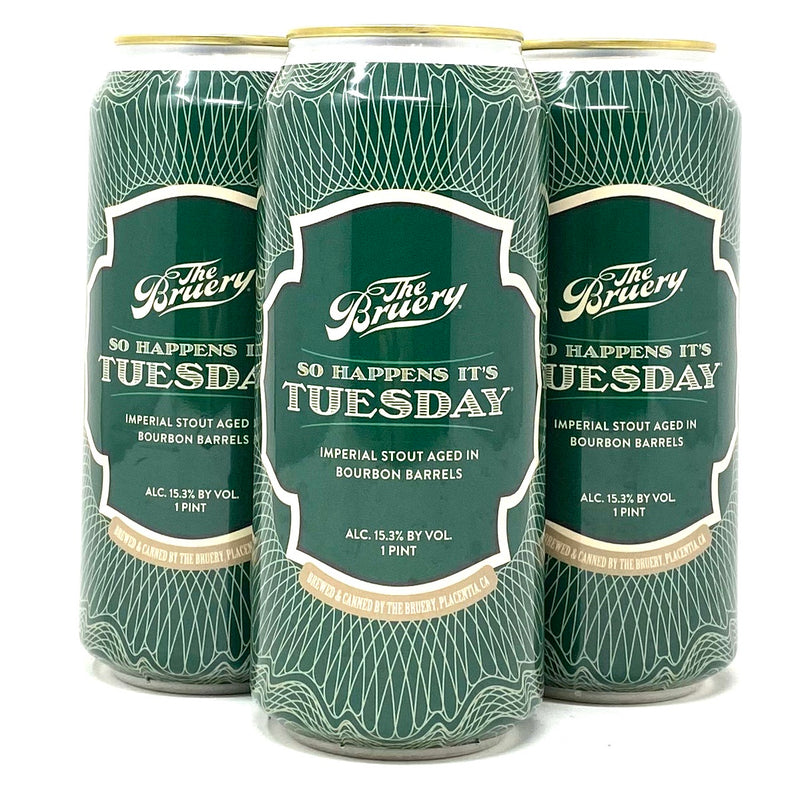 THE BRUERY SO HAPPENS ITS TUESDAY BBA IMPERIAL STOUT 16oz can