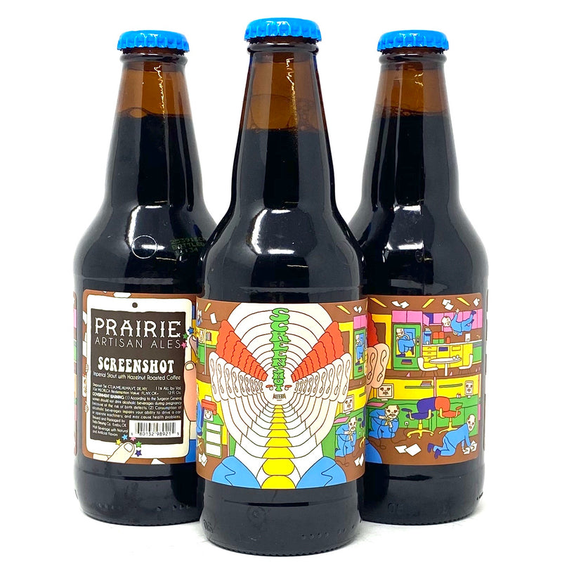 PRAIRIE ARTISAN ALES SCREENSHOT IMPERIAL STOUT w/ HAZELNUT ROASTED COFFEE 12oz Bottle