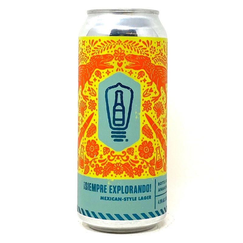 BOTTLE LOGIC BREWING SIEMPRE EXPLORANDO! MEXICAN STYLE LAGER 16oz can