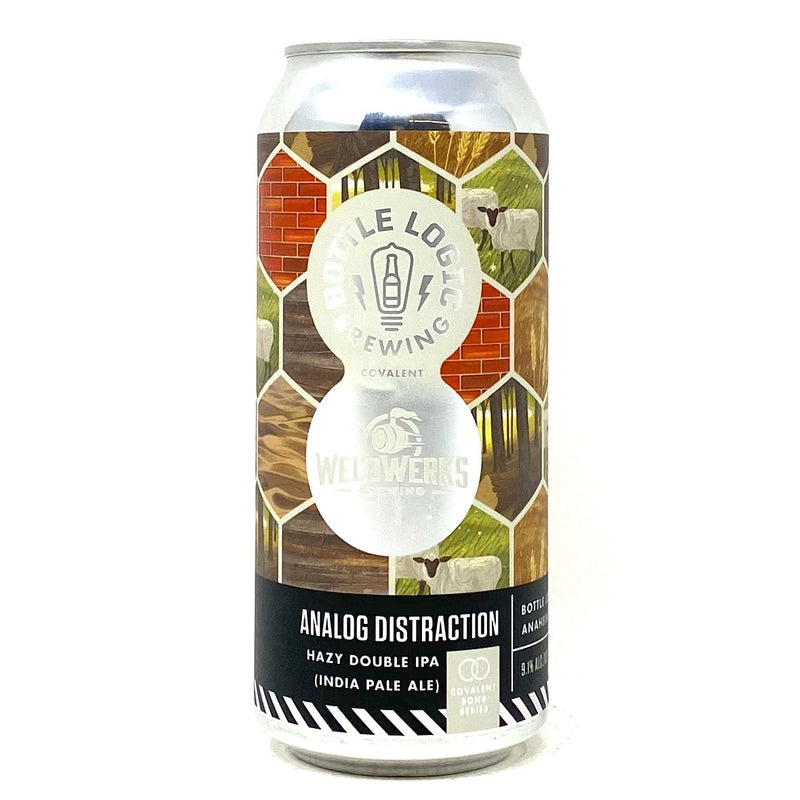 BOTTLE LOGIC BREWING CO. ANALOG DISTRACTION HAZY DOUBLE IPA 16oz can