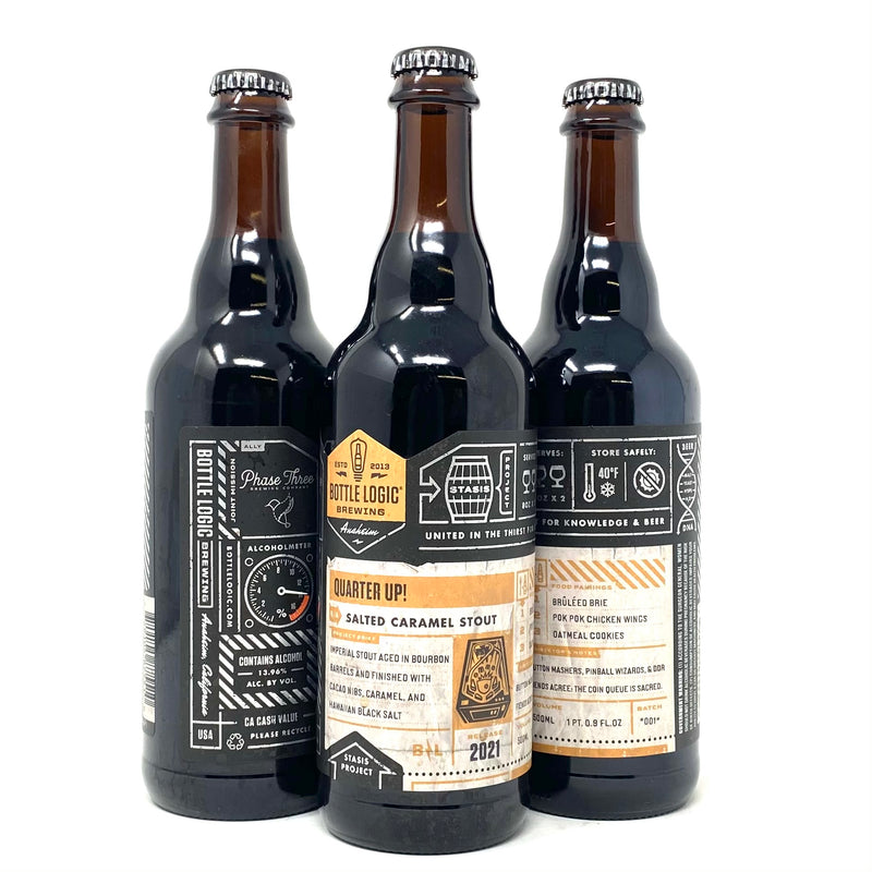 BOTTLE LOGIC QUARTER UP! SALTED CARAMEL STOUT 500ml Bottle ***LIMIT 2 PER ORDER***
