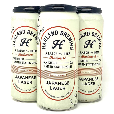 HARLAND BREWING JAPANESE LAGER 16oz can