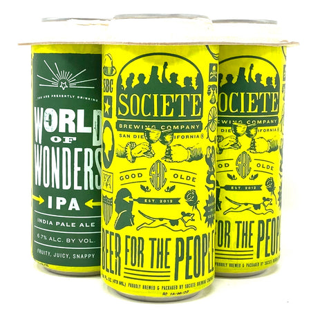 SOCIETIE BREWING WORLD OF WONDERS IPA 16oz can