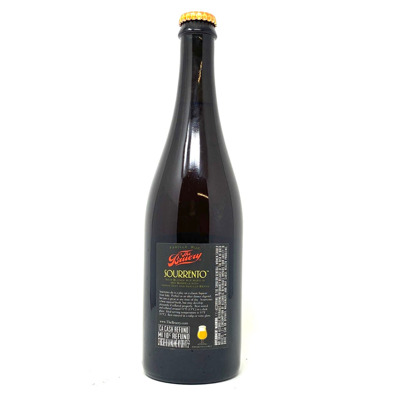 THE BRUERY 2014 SOURRENTO SOUR BLONDE ALE AGED IN OAK BARRELS w/ LEMON ZEST & VANILLA BEANS 750ml Bottle ***LIMIT 1 PER PERSON***