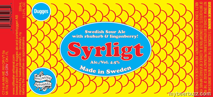 Stillwater Artisanal Ales /Dugges Syrlight Swedish Sour