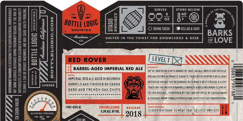 Bottle Logic Red Rover Red Ale Barrel Aged 500ml LIMIT 1