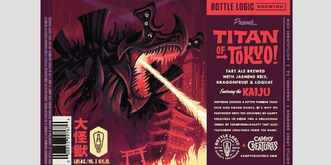 Bottle Logic Brewing Creature Collab Titan of Tokyo 16oz CAN LIMIT 2