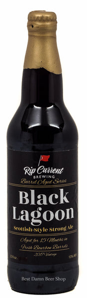 Rip Current Brewing Black Lagoon  Scottish-Style Strong Ale aged for 15 months in Fresh Bourbon Barrels