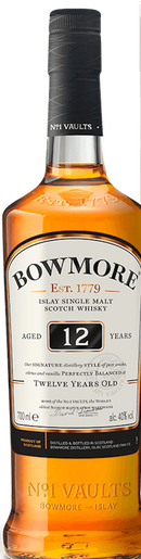 BOWMORE 12 YR SINGLE MALT SCOTCH