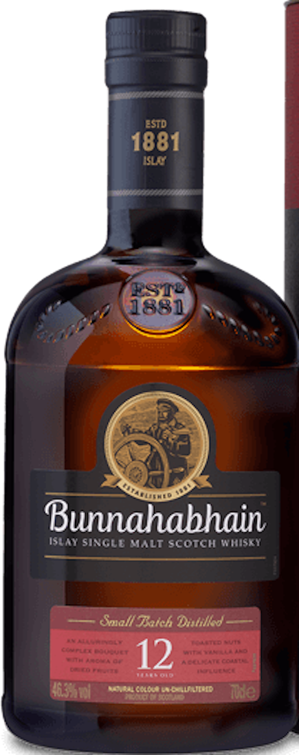 BUNNAHABHAIN 12 YR SINGLE MALT SCOTCH