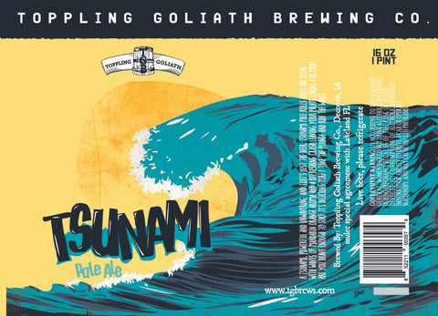 Toppling Goliath Brewing Tsunami Pale Ale 16oz cans