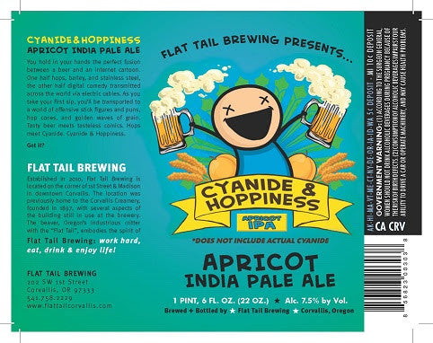 Flat Tail Apricot IPA Cyanide & Happiness 22oz