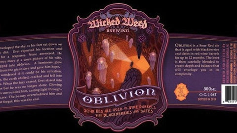 Wicked Weed Bourbon Oblivion 500ml LIMIT 1 (Read Order Info)