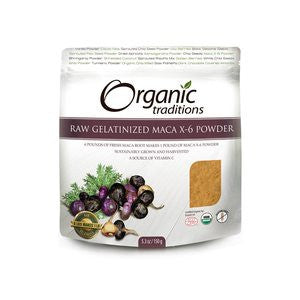 Organic Traditions Maca X-6 Black and Red-Purple Powder