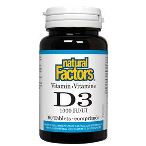 Natural Factors Vitamin D3 1000 IU